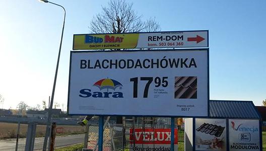 Billboardy / tablice reklamowe