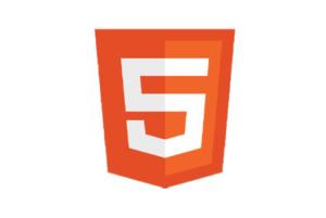 Logotyp HTML5 - aktualnego standardu tworzenia stron WWW